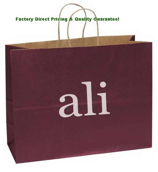 Branded Logo Matte Shopping Bags
