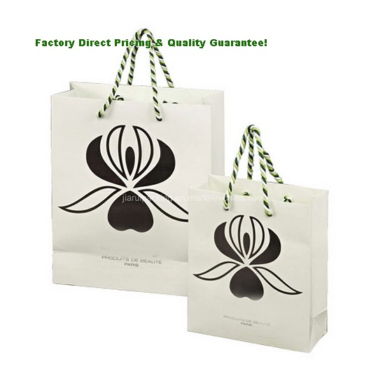 China Custom Cosmetic Paper Shopping Bags