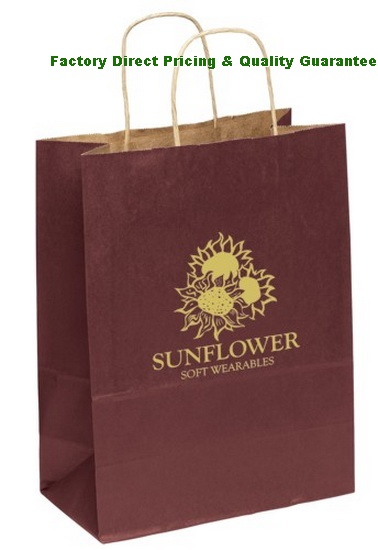 China Custom Printed Matte Shopping Bags