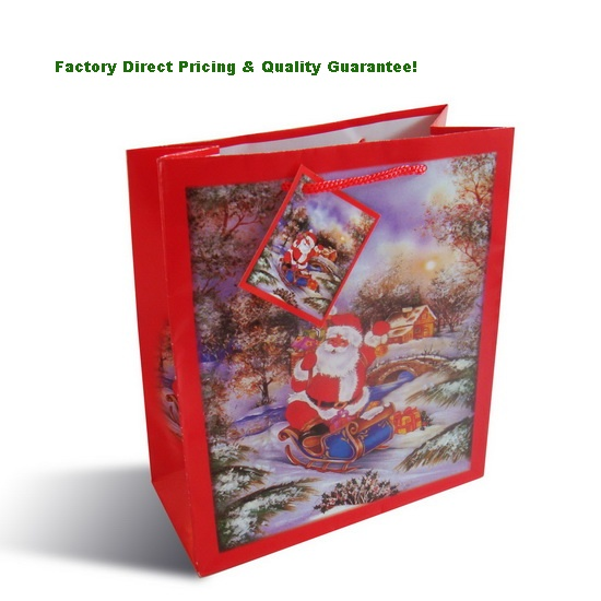 Factory Direct Christmas Gift Paper Bags