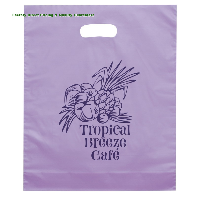 China Custom Frosted Die Cut Handle Plastic Bags