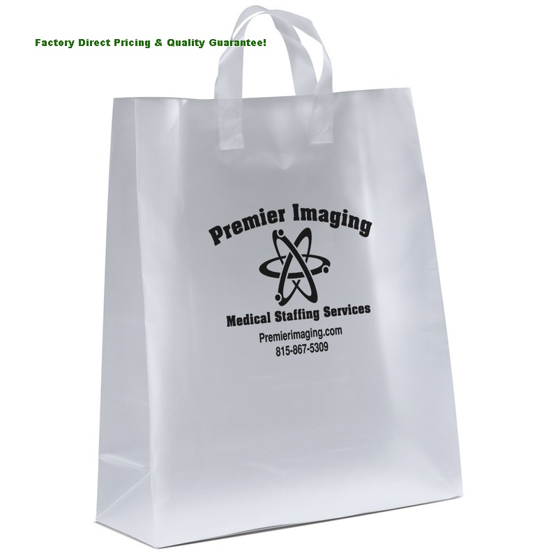China Custom Frosted Plastic Shopper