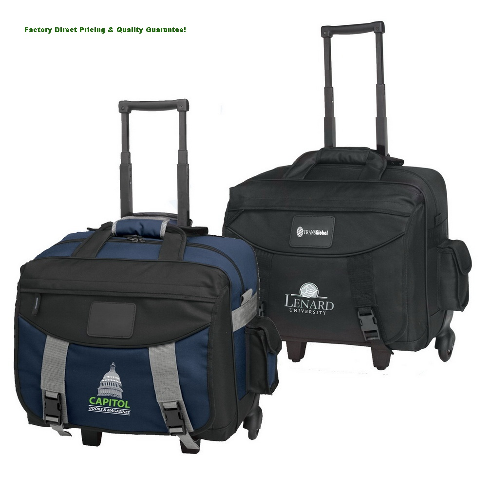 Custom Branded Rolling Computer Brief Bags