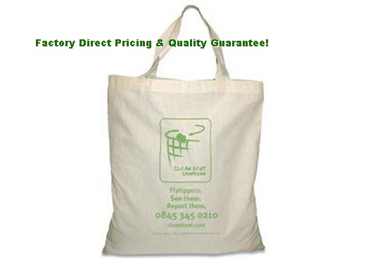 Factory Direct Eco-Friendly Short Handled Tote Bag