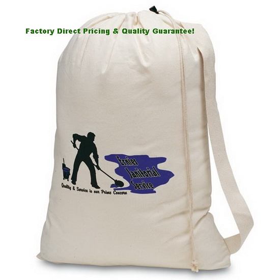 Factory Direct Natural Cotton Laundry Bag