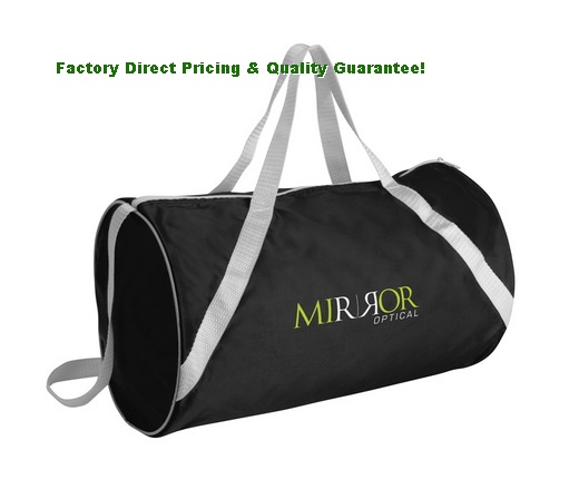 China Custom Printed Black Duffel Bags