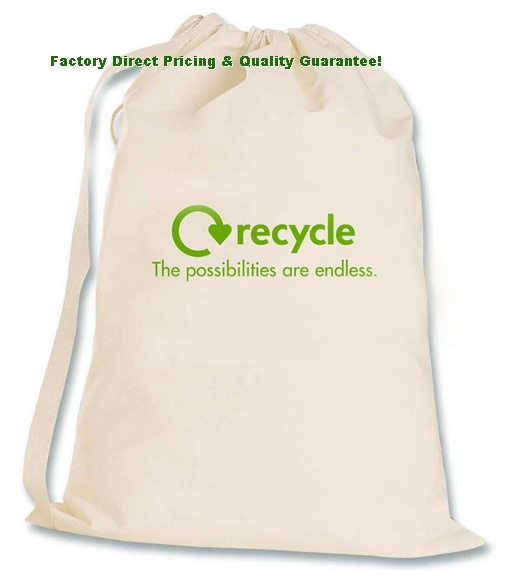 Factory Direct Recycled Canvas Laundry Bag