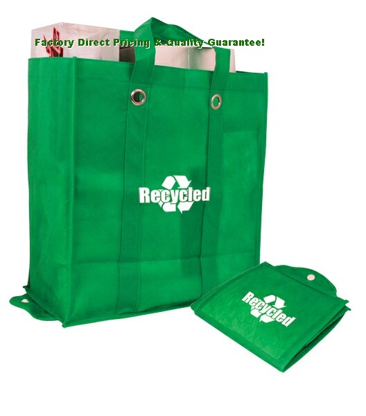 Factory Direct Eco Green Foldable Tote Bags