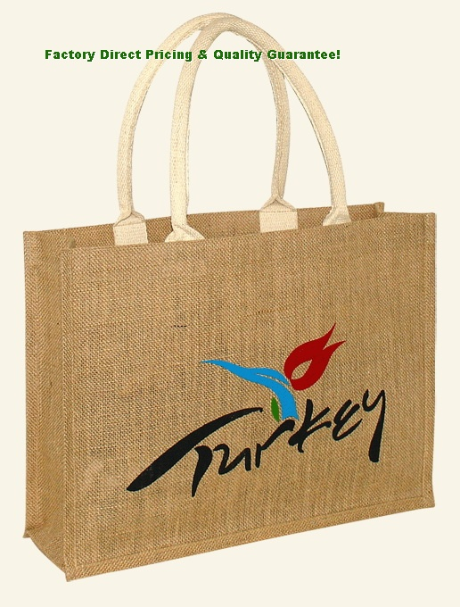 China Custom Promotional Shopping Jute Tote