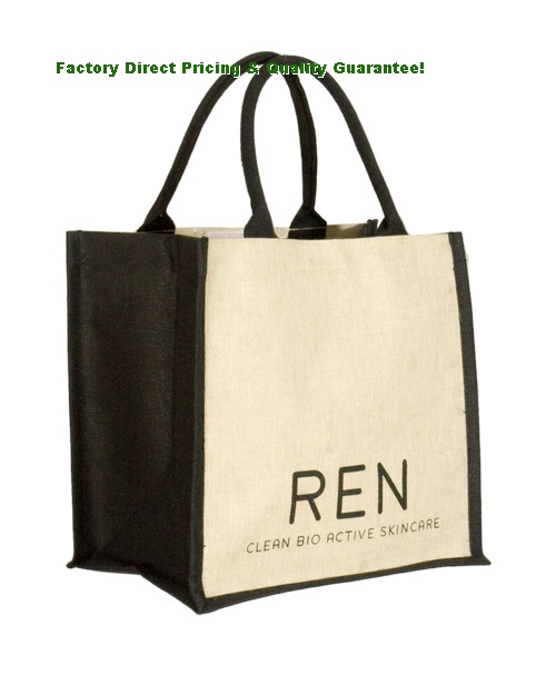 China Printed Promotional Jute Bags