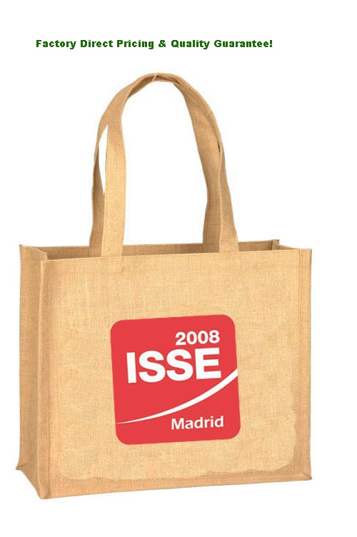 China Promotional Jute Tote Bags