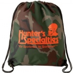 China Custom Camouflage Drawstring Backsack Bag