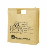 China Custom Eco Jute Shopping Bags With Bamboo Handle