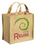 China Custom Reusable Jute Tote Bags