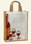 China Printed Budget Promotional Wine Bags